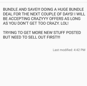 Other - BUNDLE DEALS!!
